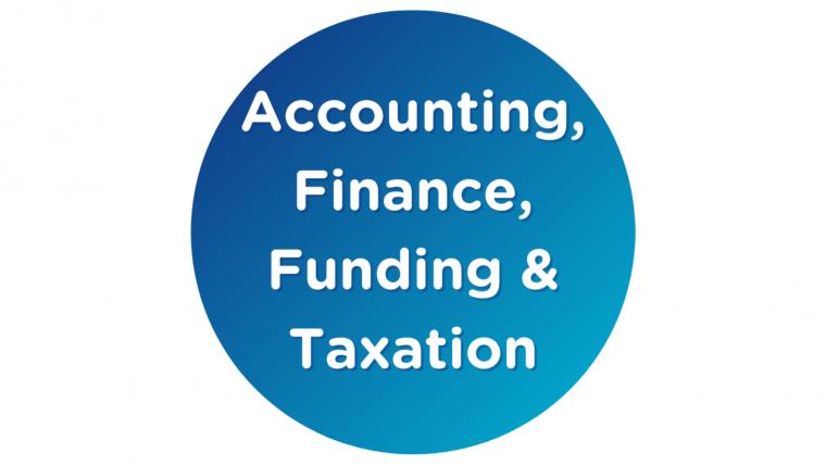 Accounting, finance, funding and taxation webinars