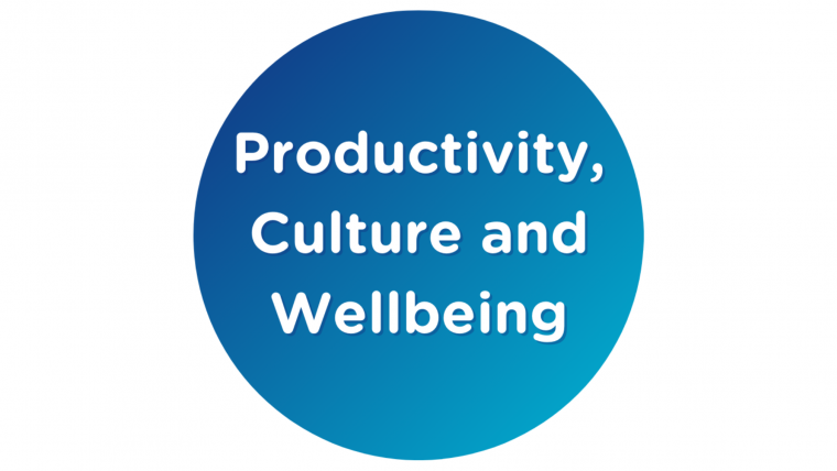 Productivity, Culture and Wellbeing webinars
